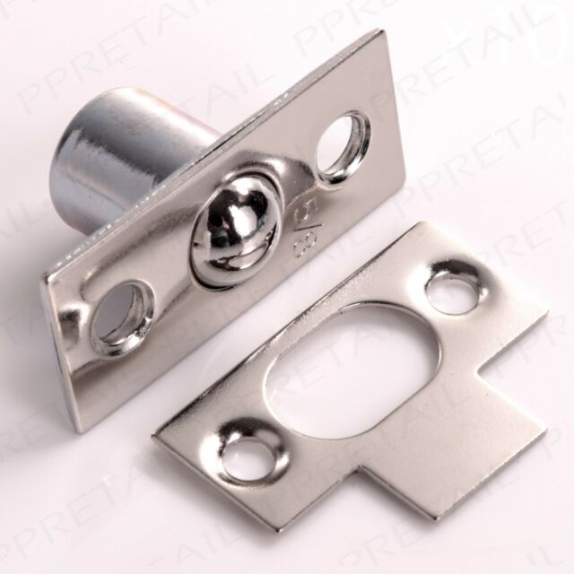 NICKEL BALES DOOR CATCH Small 16mm Cupboard/Frame Roller Ball Mortice Latch Lock & Small 16mm Brass Bales Catch Roller Ball Door/cupboard Frame Mortice ...