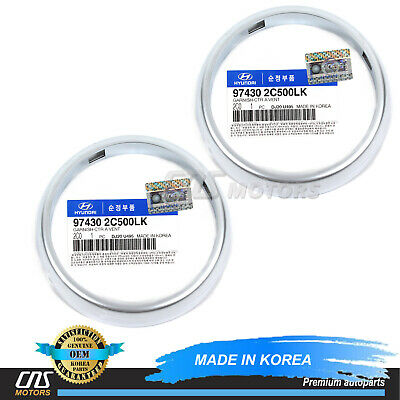GENUINE Center Air Vent Ring 2PCS for 2003-2008 Hyundai Tiburon OEM 974302C500LK