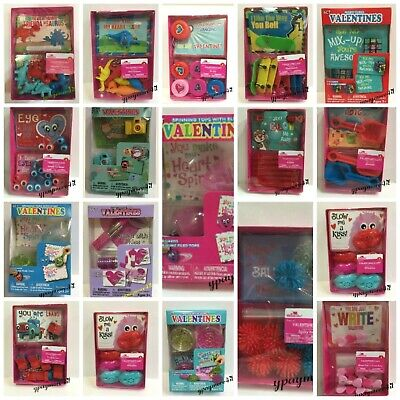 Valentine For Kids (❤️ Valentine's Day Cards for Kids with Toys Party School Gifts)