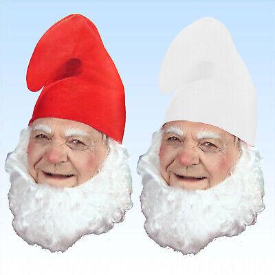 7 x Zwergenmütze weiß oder rot  Hut für Zwerge Gnom Märchen Karneval Kostüm