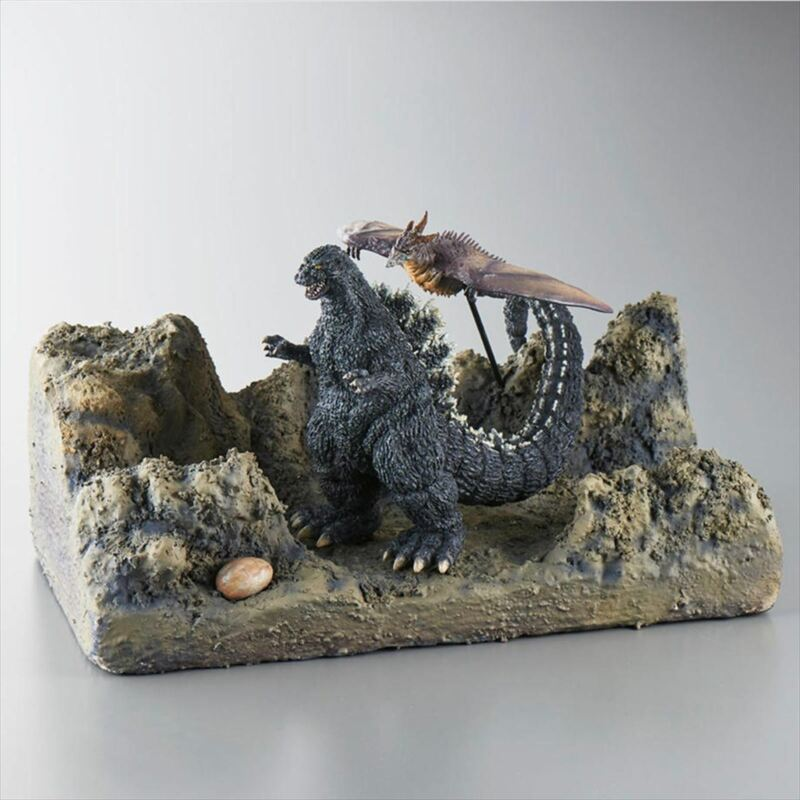 Godzilla vs Mechagodzilla Radon Diorama Set Adnoa Island Battle Limited Figure