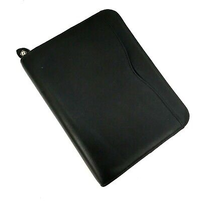 Day-timer Genuine Leather Black Binder 7 Rings Nice Quality Organizer Notebook
