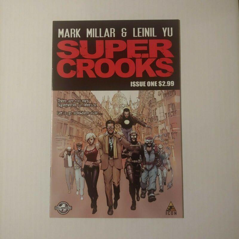 Super Crooks #1 1st Print NM Mark Millar Icon Netflix Movie Optioned Comic