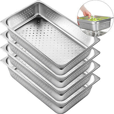4 Pack Perforated Steam Table Pan Hotel Full Size 4deep Stainless Steel Pans