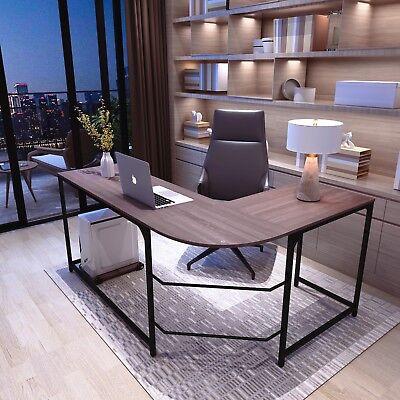 L-shaped Corner Desk Computer Desk Laptop Table Office Home Workstation Oak-l