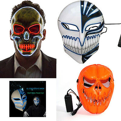 Novelties LED Mask Skull Skeleton Fancy Scary Halloween Adult Costume Accessory - Halloween Scary Skull