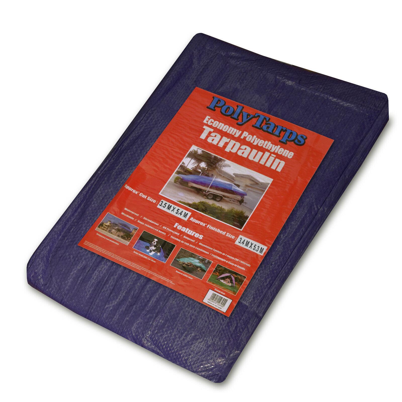 Waterproof Tarpaulin Ground Sheet Lightweight Camping Cover Tarp with Eyelets - 5