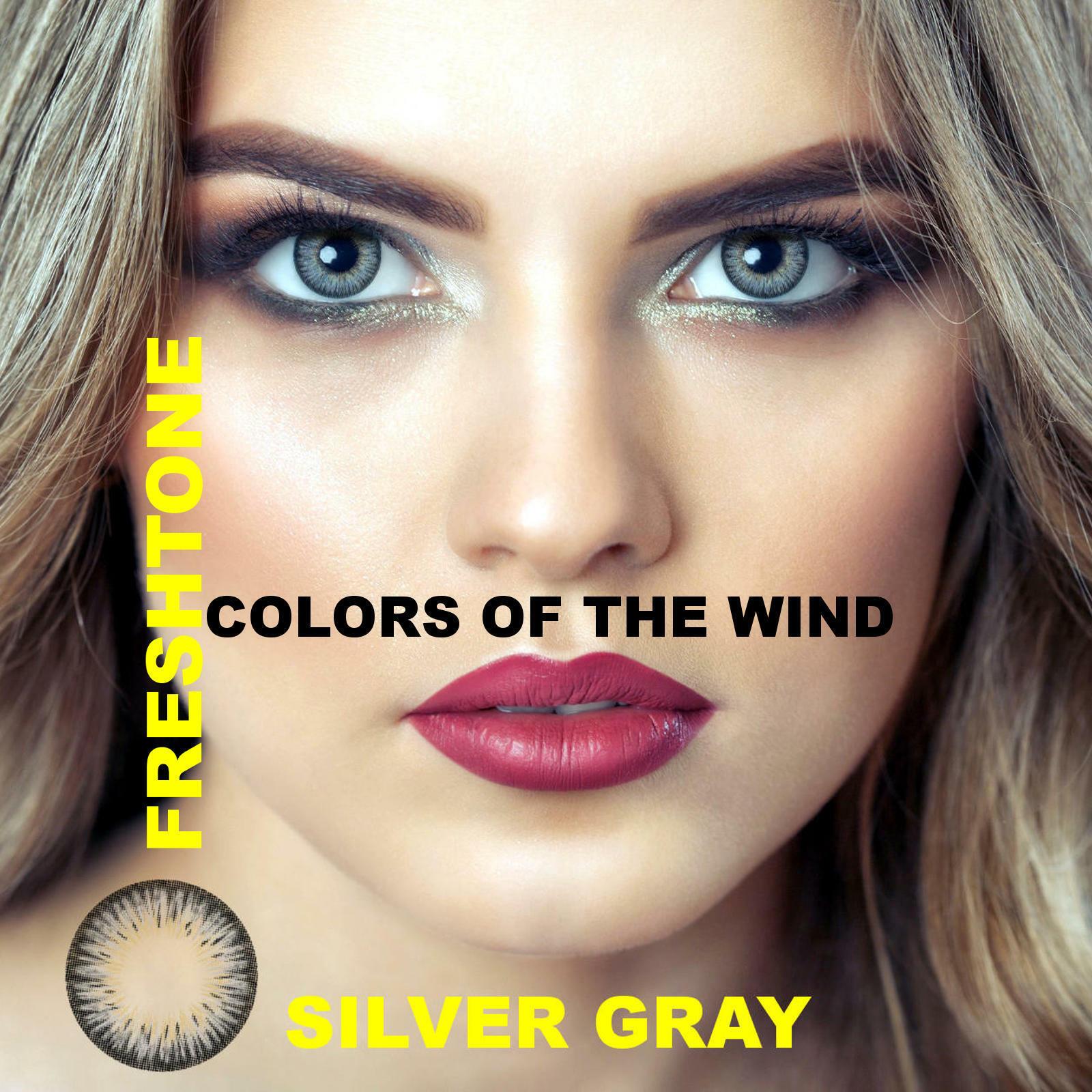 Farbige Kontaktlinsen ohne Stärke Jahreslinsen 12 Monatslinsen jasmine Freshtone