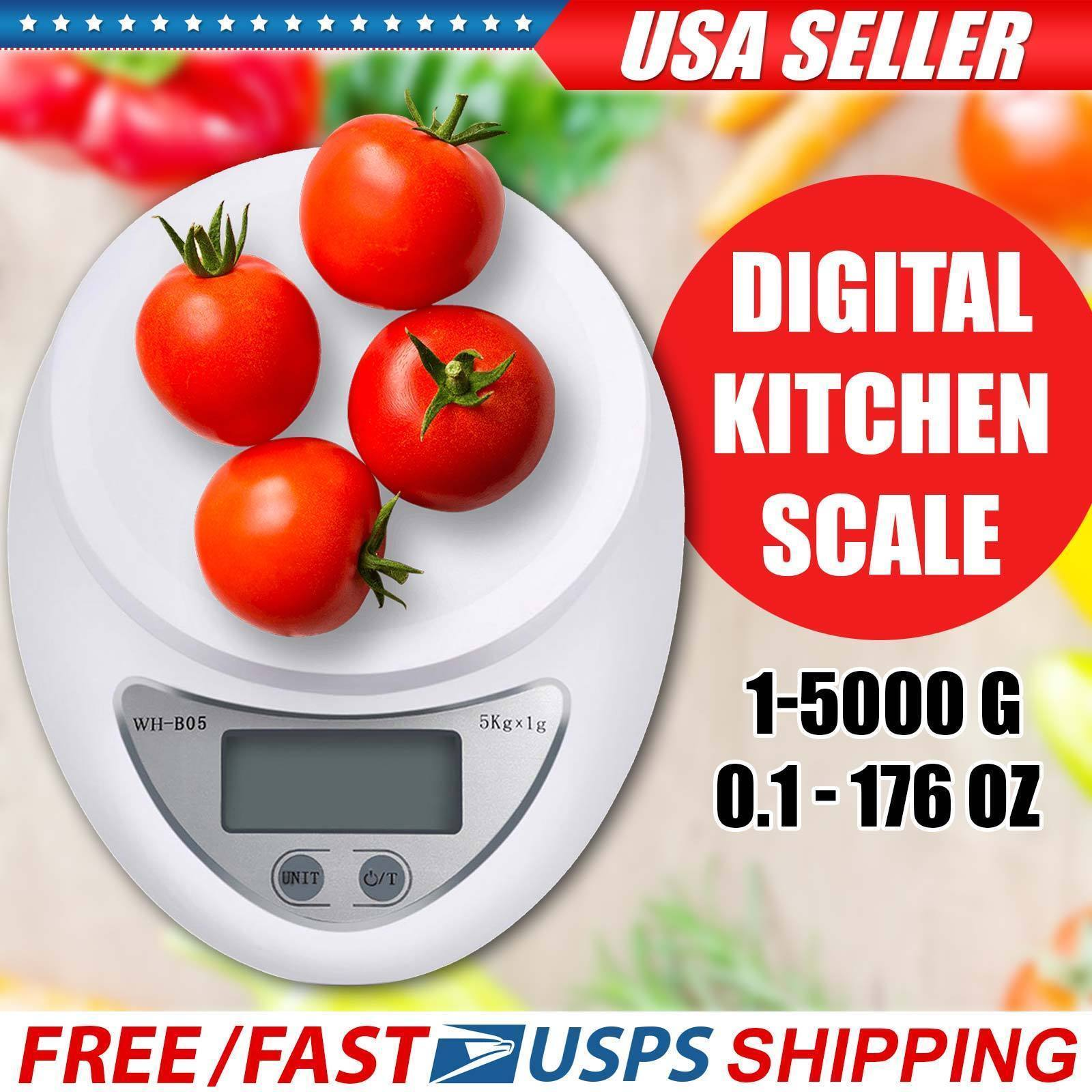 New Digital Kitchen Food Cooking Scale Weigh in Pounds, Grams, Ounces, and KG Home & Garden