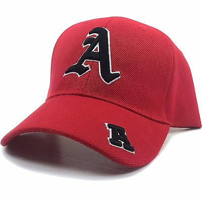 Letter Hat (Casual Red Black Navy Alphabet Letter A J M R S Baseball Hat)