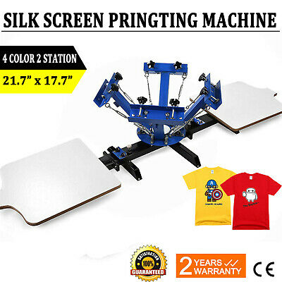 4 Color 2 Station Silk Screen Printing Machine Press T-shirt Printing Equipment