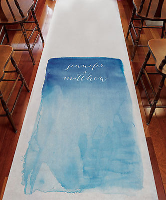 Aqueous Bright Colorful PERSONALIZED Aisle Runner Wedding Ceremony Decoration  - Personalized Wedding Aisle Runner