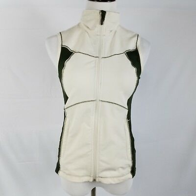 Columbia titanium womens vest size small beige green omni dry full zip