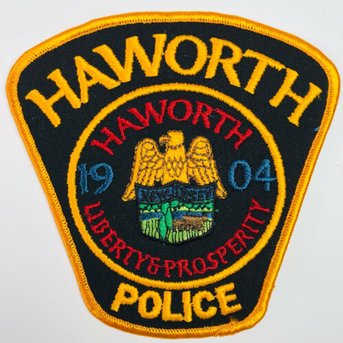 Haworth Police New Jersey Patch