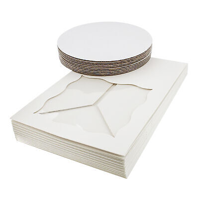 Spec101 Square Cake Boxes With Window - 10pk White Cake Boxes 10x10x5 Inch