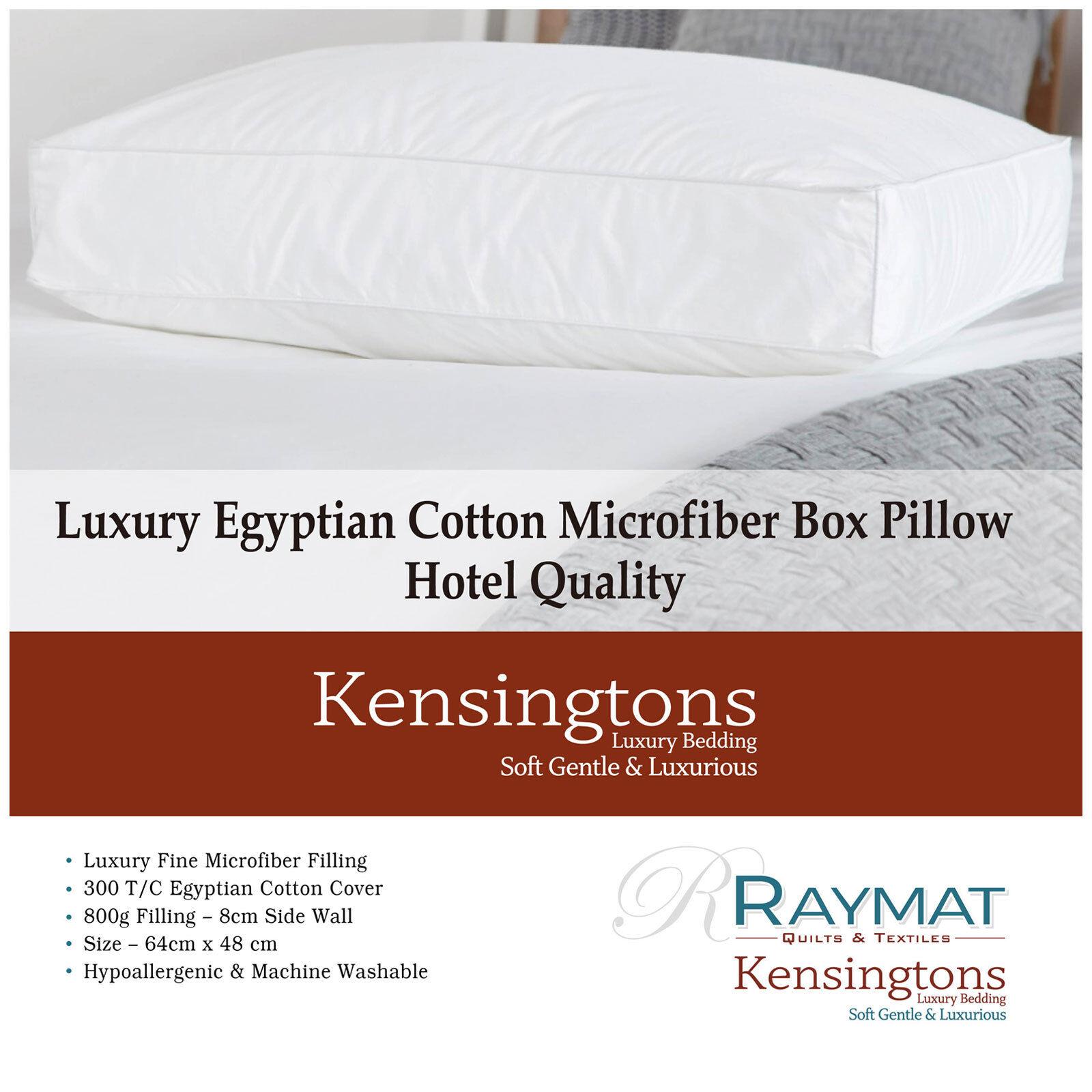PROPRIO COME DOWN MICROFIBRA cuscini 2 x Lusso Qualità hotel biancheria da letto