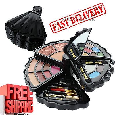 Makeup Gift Set Kit Eyesshadow Blush Lip Gloss Mascara Mirror Aplicators Travel