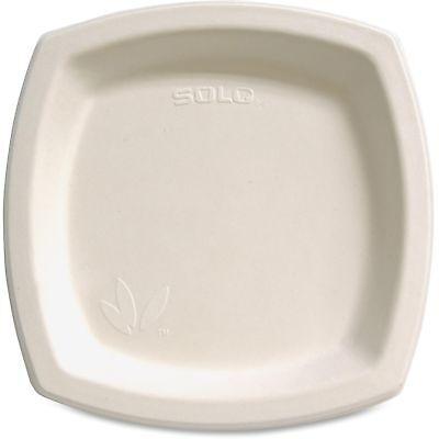 "Solo Cup Bare Sugar Cane Plate 8.25"" 125/PK Off-White 8PSC2050PK"
