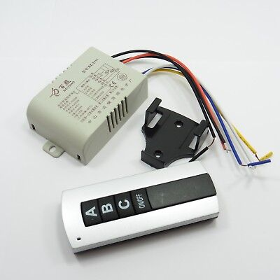 240V 3 Way Remote Control Wireless Light Switch Button Controller RF