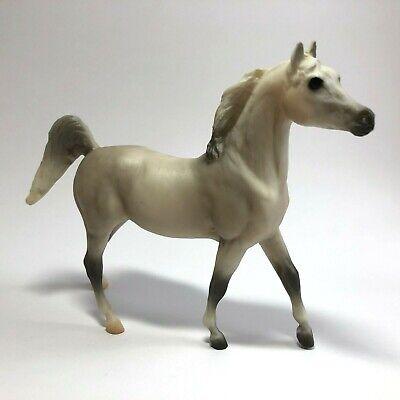 "Breyer Reeves Model 4x5"" GREY HORSE Colt Toy Figure Rare VTG GRAY / OFF-WHITE"