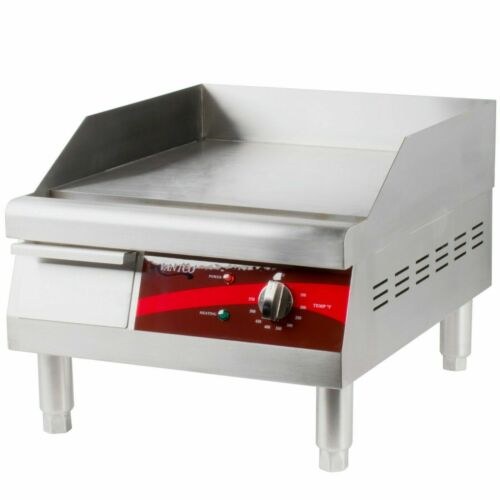 """Avantco 16"""" Electric Commercial Countertop Steel Flat Top Griddle Grill 120V"""