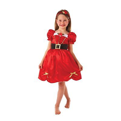 Miss Santa Christmas Red Festive Cute Childs Kids Girls Fancy Dress Costume (Cute Santa Girl Costumes)