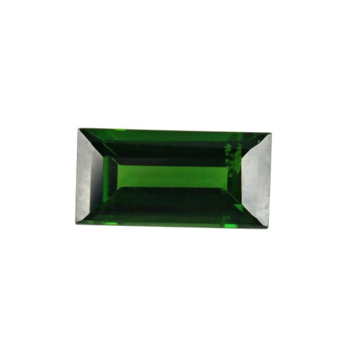 RUSSIAN DIOPSIDE NATURAL CHROME GREEN LOOSE GEMSTONE BAGUETTE 0.98 ct.