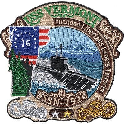 US NAVY SSN-792 USS Vermont newly authorized MILITARY patch