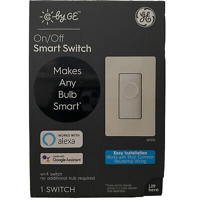 New! C by GE ON/OFF SMART SWITCH (Alexa, Google Voice Control)   Ships Today!