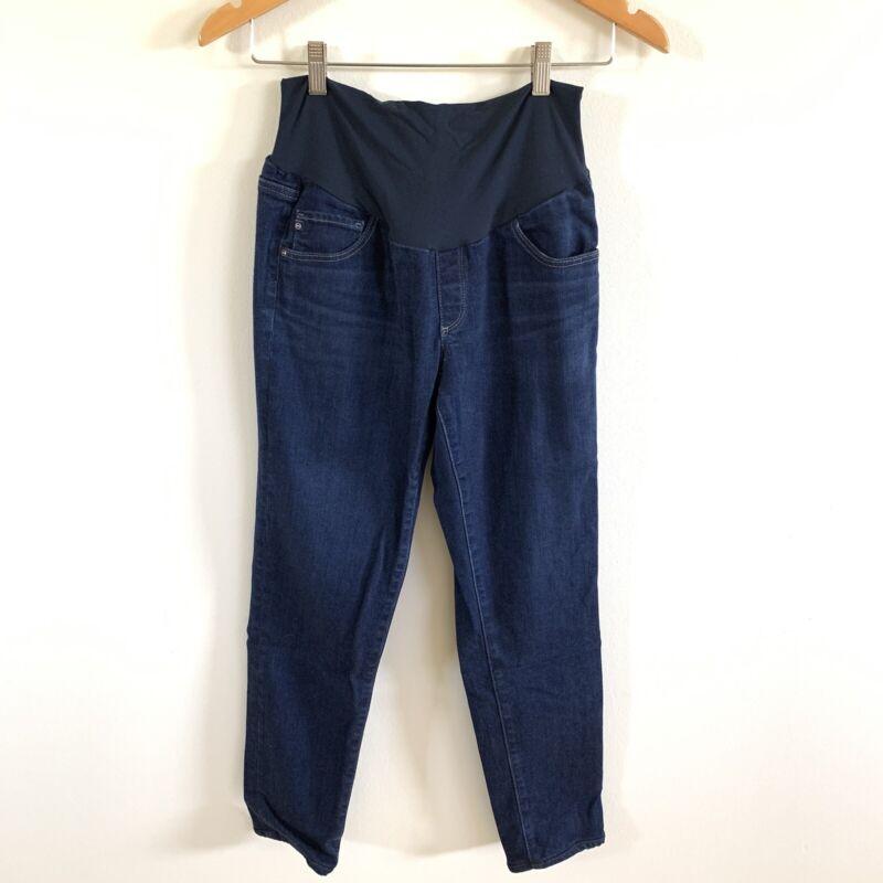ADRIANO GOLDSCHMIED AG Jeans Dark Wash Maternity Blue Stretch Womens Size 31 R