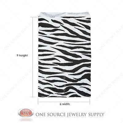 1000 Zebra Print Gift Bags Merchandise Bags Paper Bags 6x 9