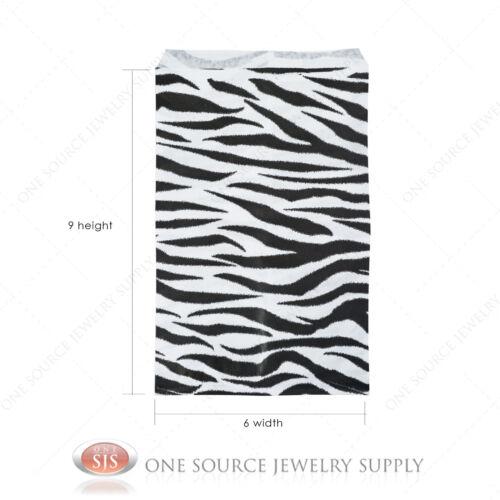 "1000 Zebra Print Gift Bags Merchandise Bags Paper Bags 6""x 9"""