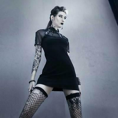 DARK IN LOVE Gothic Girl School Dress Niedliches Gothic-Kleid für den Alltag Gothic School Girl