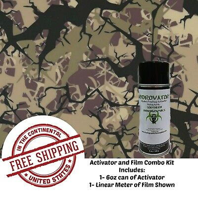 Hydrographic Water Transfer Hydro Dip 6 Oz Activator 1m Tree Army Camo Film