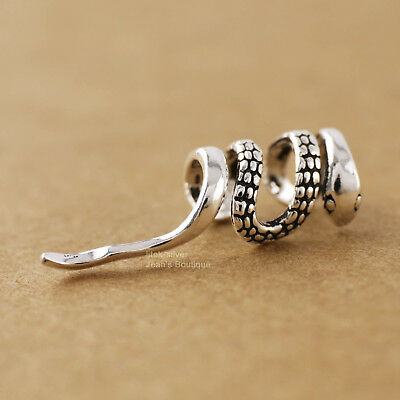 925 Sterling Silver Retro Snake Cuff Clip SINGLE Earring P1434 US Warehouse ()