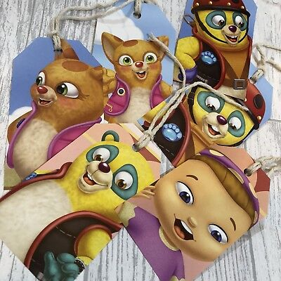 Disney Special Agent Oso Gift Tags Labels Upcycled Book Page Handmade Recycled