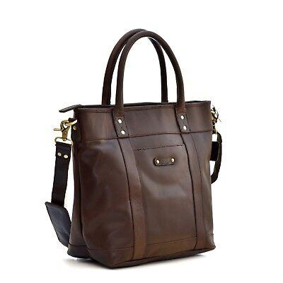 Style n Craft 392003 Men's Tote Bag in Full Grain Dark Brown Leather