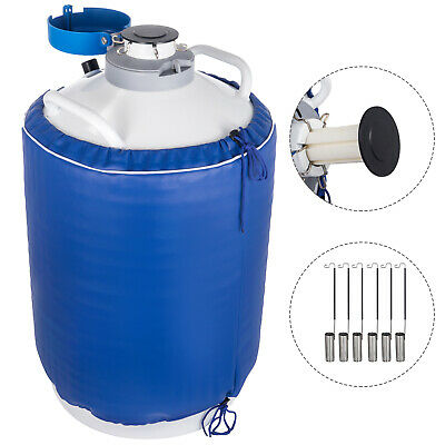 15l Liquid Nitrogen Tank Cryogenic Container Ln2 Dewar6pcs Pailslock Cover