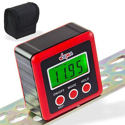 Präzise digitale Wasserwaage, Winkelmesser, bel.Display, bis 0,01° genau, NEU