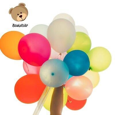 Bastelbär Luftballons - 100 bunte Ballons in 11 verschiedenen Farben - Latexball ()