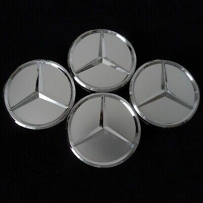 Nabendeckel für Mercedes Benz GRAU MATT Fahrzeuge 75mm Satz (4Stück Kappen)