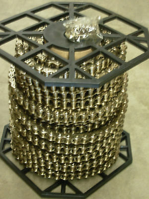 41np Nickel Plated Roller Chain 100ft Roll 10 Free Connecting Links