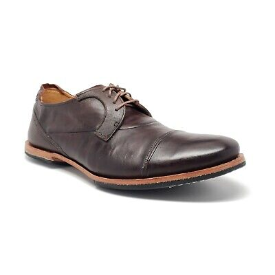 Timberland Boot Company Wodehouse Cap Toe Oxford in Burnished Dark Brown Mens 8