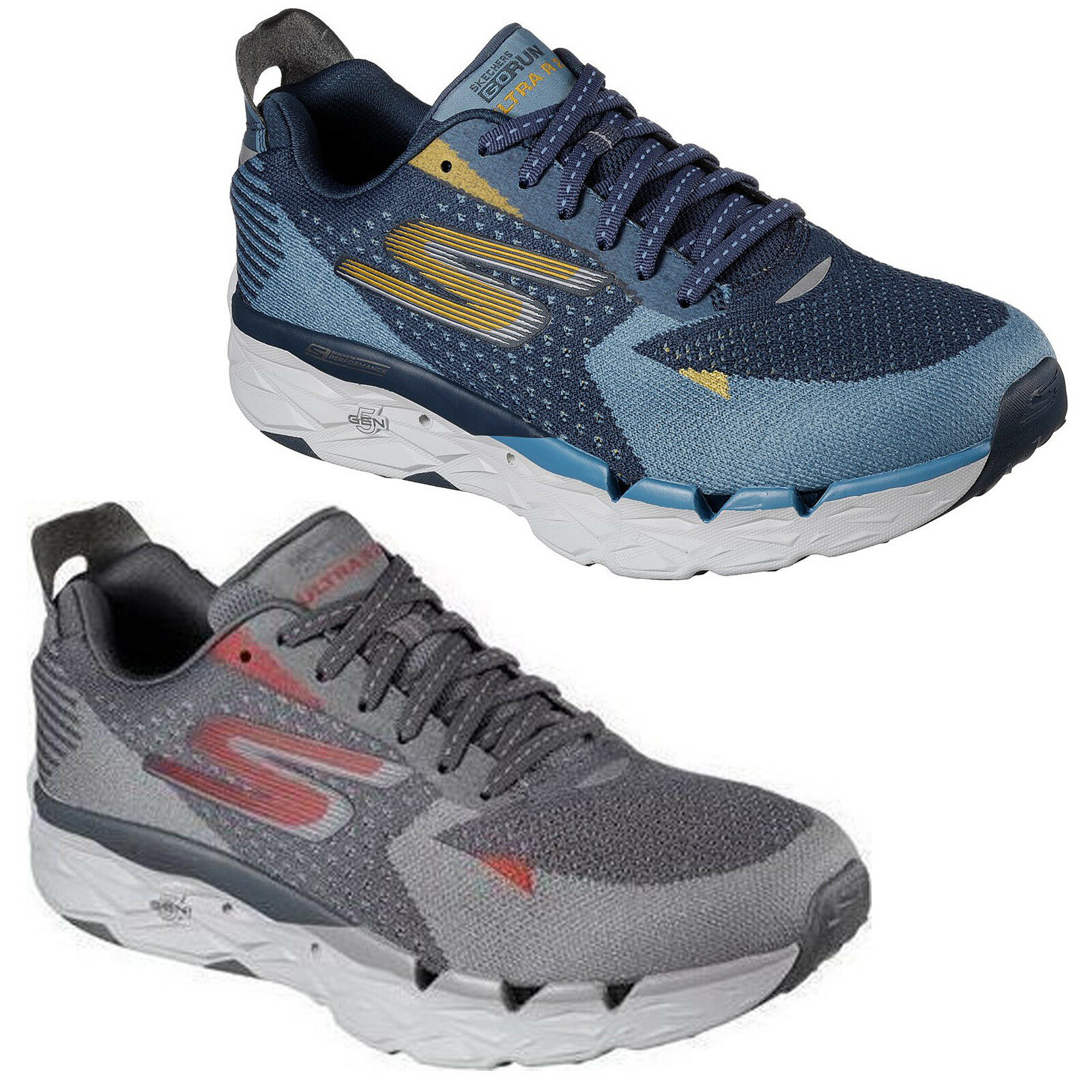 32a48cd2d9439 Skechers GoRun Ultra Road 2 Trainers Mens Memory Foam Light Sports Shoes  55050