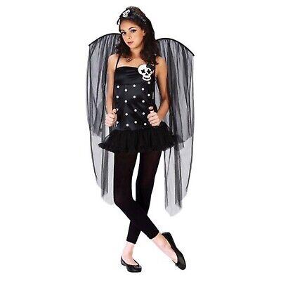 Teen Girl's or Women's Skull Fairy Gothic Halloween Costume Juniors Size 0-9 - Fairy Girl Kostüm