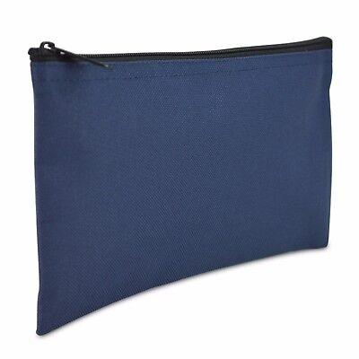Deposit Bag Bank Pouch Zippered Safe Money Bag Organizer in Navy Blue