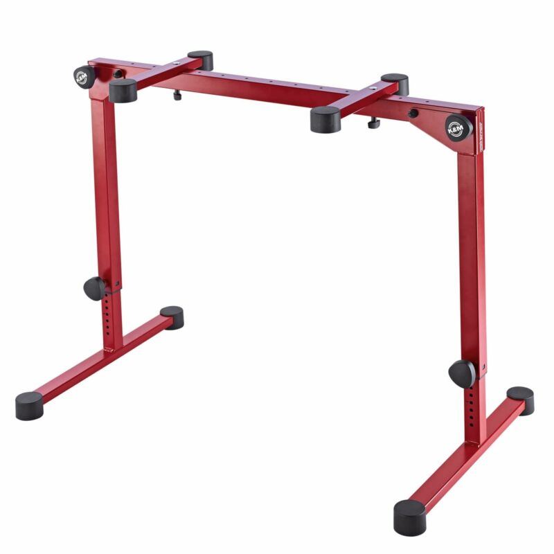 K&M 18820 Ruby Red Omega Pro Table-style Keyboard Stand with Folding Legs