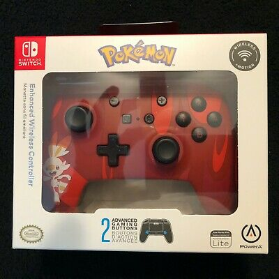 Nintendo Switch Pokemon Scorbunny Power A Enhanced Wireless Controller Brand New