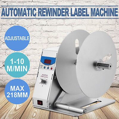 Automatic Label Tags Rewinder Rewinding Machine Industry Electric Labeling