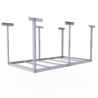 HEAVY DUTY 4ft x 8ft Overhead Garage Storage Adjustable Ceiling Rack (OPEN BOX)